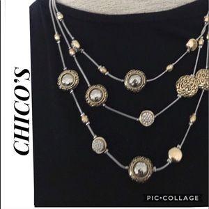 Chico's Maci Illusion Necklace